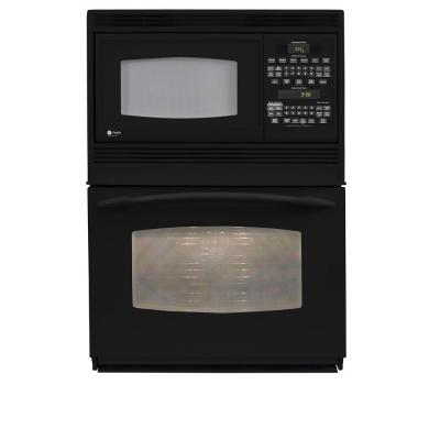 GE Profile 30 in. Electric Convection Wall Oven with Built-In Microwave in Black