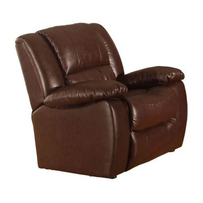 Clarksville Recliner Chair in Chocolate Brown Leatherette Product Photo