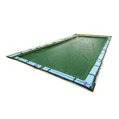 12-Year Rectangular Forest Green Above Ground Winter Pool Cover