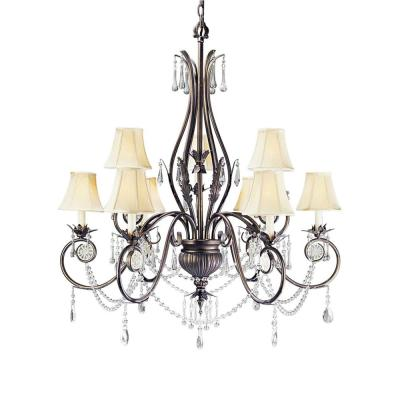 World Imports Berkeley Square Collection Bronze 9-Light Chandelier 753-62