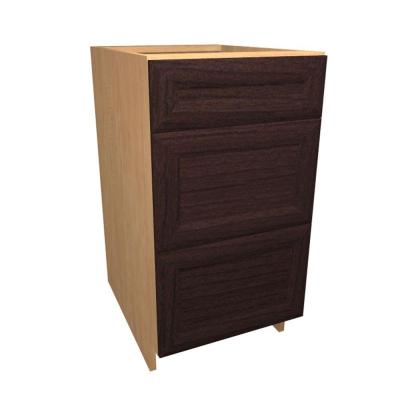 12x34.5x24 in. Dolomiti Base Drawer Cabinet with 3 Soft Close Drawer