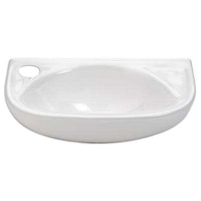 Isabella Wall-Mounted Bathroom Sink in White Product Photo