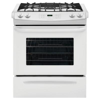 30 in. 4.6 cu. ft. Slide-In Gas Range with Self-Cleaning Oven