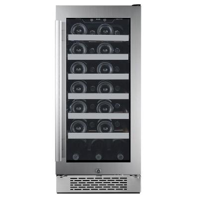 27-Bottle 15 in. Built-in Wine Cooler with Argon Filled Double Paned