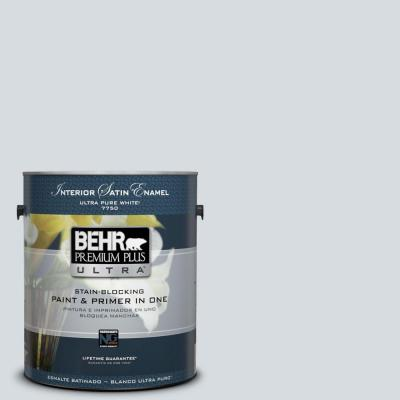 BEHR Premium Plus Ultra Home Decorators Collection 1-gal. #HDC-CT-16 Billowing Clouds Satin Enamel Interior Paint