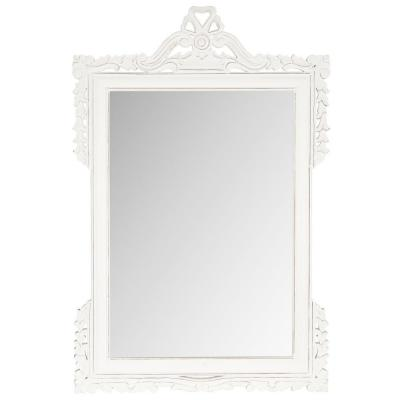 Pedimint 47 in. x 31 in. Solid Wood Framed Mirror