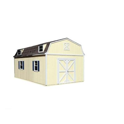 Sequoia 12 ft. x 20 ft. Wood Storage Building Kit with Floor Product Photo