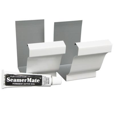 5 in. White Steel Seamers with Seamermate (2-Pack)