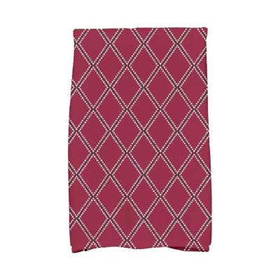 16 in. x 25 in. Diamond Dots Holiday Geometric Print Kitchen Towel
