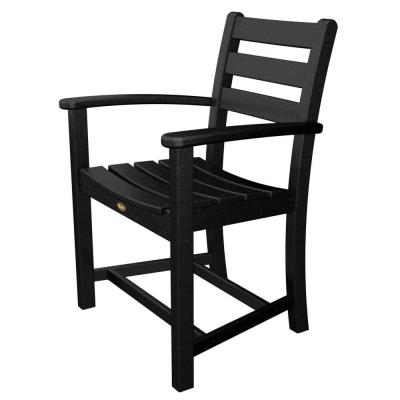 Monterey Bay Charcoal Black Patio Dining Arm Chair