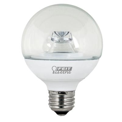 40W Equivalent Warm White (3000K) G25 Dimmable Clear LED Light Bulb