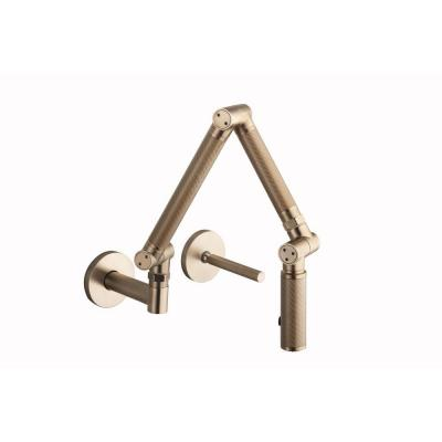 Karbon Single-Handle Kitchen Faucet in Vibrant Brushed Bronze Product Photo