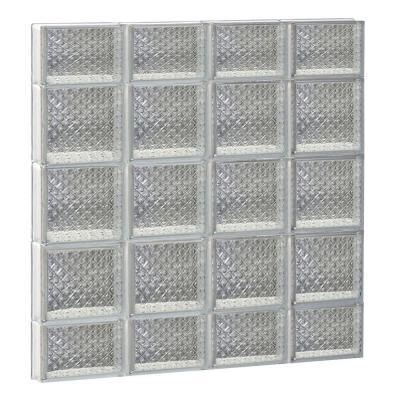 31 in. x 34.75 in. x 3.125 in. Diamond Pattern Non-Vented Glass Block Window Product Photo