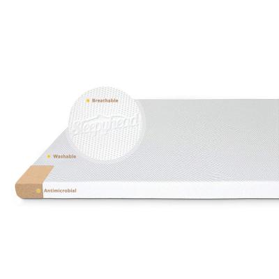 Copper-Infused Memory Foam Mattress Topper with Washable Cover