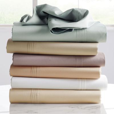 Legends Luxury Solid 600-Thread Count Egyptian Cotton Sateen Fitted Sheet