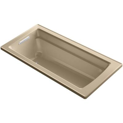 Archer 5.5 ft. Reversible Drain Soaking Tub in Mexican Sand
