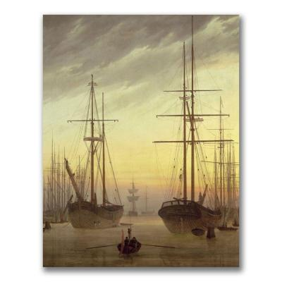 Trademark Fine Art 26 in. x 32 in. View of a Harbour Canvas Art