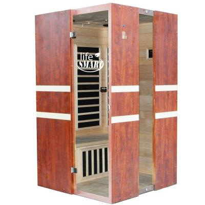 Lifesmart Euro Style 2-Person Infrared Sauna with Carbon Tech Heaters and MP3 Sound System