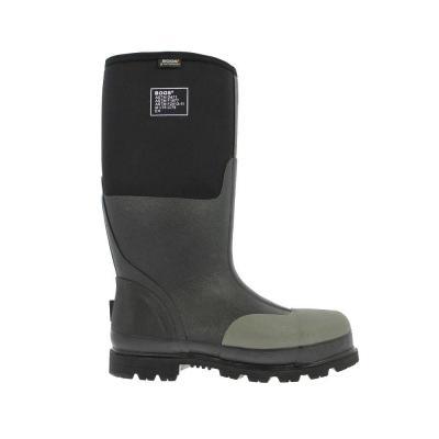 Forge Steel Toe Men 16 in. Black Waterproof Rubber with Neoprene Boot