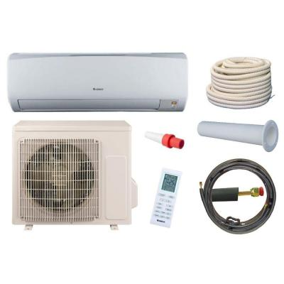High Efficiency 9,000 BTU 3/4 Ton Ductless Mini Split Air Conditioner and Heat Pump Kit - 115V/60Hz Product Photo