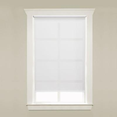 White Cordless Light Filtering 5 mil Vinyl Roller Shade