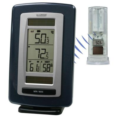 La Crosse Technology Solar Powered Temperature Station with Solar Sensor