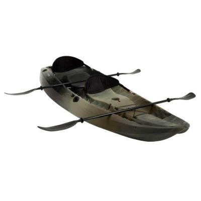 Camo Sport Fisher Tandem Kayak with Paddles and Backrests