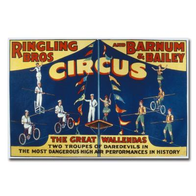 Trademark Fine Art 22 in. x 32 in. Ringling Brothers and Barnam & Bailey Circus Canvas Art