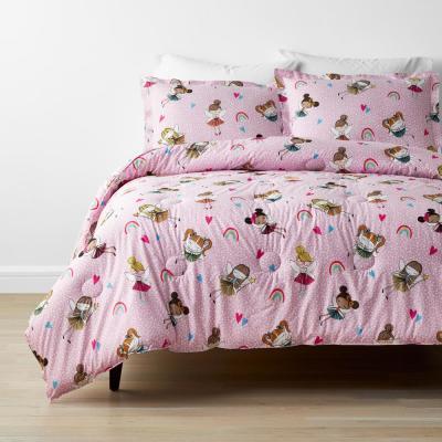 Company Kids™ Fairy Ballerina Multicolored Organic Cotton Percale Comforter Set