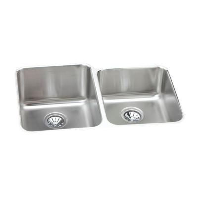 Elkay Lustertone Undermount Stainless Steel 31 in. 0-Hole Double Bowl Kitchen Sink