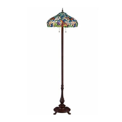 Home Decorators Collection Oyster Bay 60 in. Multi Butterflies Floor Lamp-DISCONTINUED