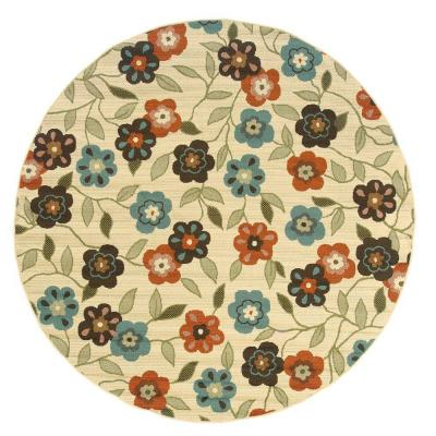 Summertime Beige 7 ft. 10 in. Round Area Rug