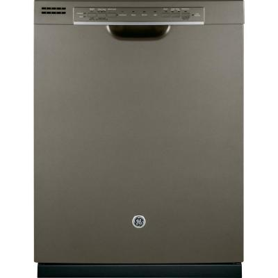 GE Front Control Dishwasher in Slate with Hybrid Stainless Steel Tub and Steam PreWash