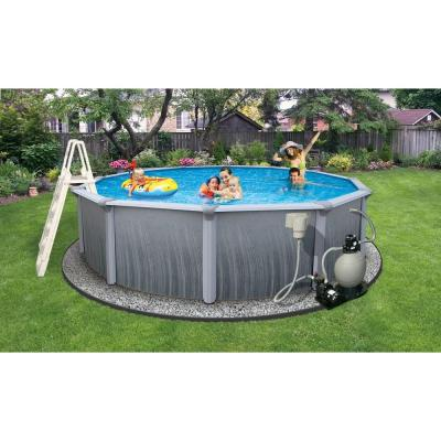 Martinique Round Above Ground Pool Package 48 in. Deep