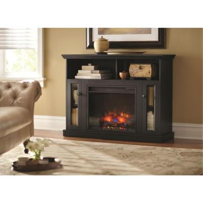 Charles Mill 46 In Convertible Media Console Electric Fireplace In Dark Cherry