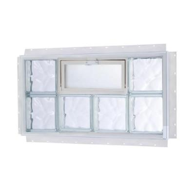 TAFCO WINDOWS 40 in. x 32 in. NailUp Vented Wave Pattern Glass Block Window