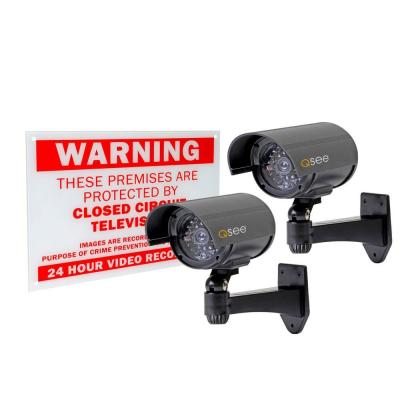 Q-SEE Decoy Cameras with Warning Sign (2-Pack)