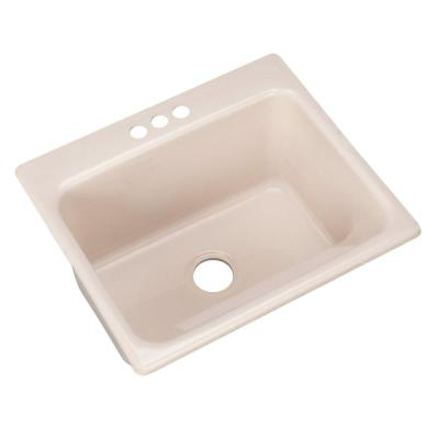 Thermocast Kensington Drop-In Acrylic 25 in. 3-Hole Single Bowl Utility Sink in Shell
