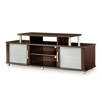 South Shore City Life TV Stand in Chocolate