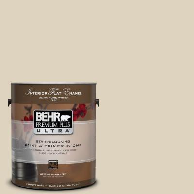 1-gal. #PPU4-12 Natural Almond Flat Enamel Interior Paint
