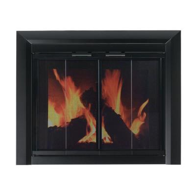 Pleasant Hearth Clairmont Large Glass Fireplace Doors