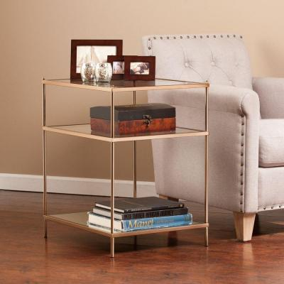 Melrose Metal and Glass Accent Table in Gold