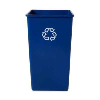 Rubbermaid Commercial Products 50 Gal. Untouchable Blue Square Recycling Container