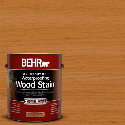 1-gal. #ST-140 Bright Tamra Semi-Transparent Waterproofing Wood Stain