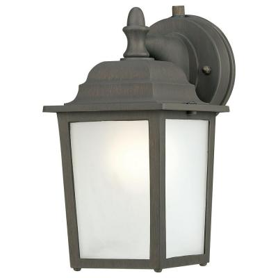Thomas Lighting Covington Wall-Mount 1-Light Outdoor Painted Bronze Lantern-DISCONTINUED