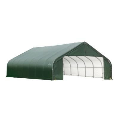ShelterLogic 30 ft. x 28 ft. x 20 ft. Green Steel and Polyethylene Garage without Floor