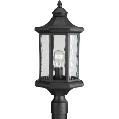 Edition Collection 1-Light Black Outdoor Post Lantern