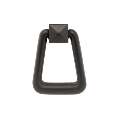 Mission Style 3-1/4 in. Flat Black Ring Pull