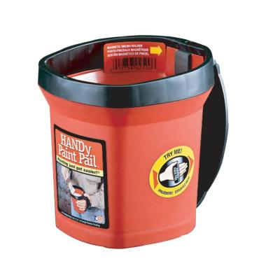 HANDy Paint Pail 1 qt. Red Paint Pail with Strap and Brush Magnet