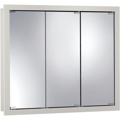 null Granville 30 in. W x 26 in. H x 4.75 in. D Surface-Mount Medicine Cabinet in Classic White